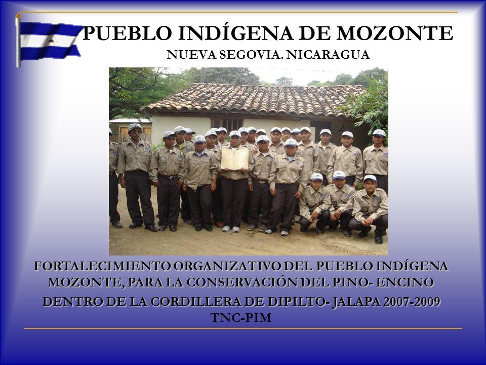 PUEBLO INDÍGENA DE MOZONTE NUEVA SEGOVIA. NICARAGUA