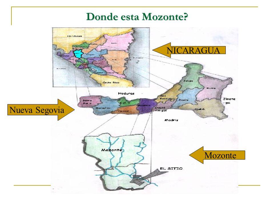 Donde esta Mozonte NICARAGUA Nueva Segovia Mozonte
