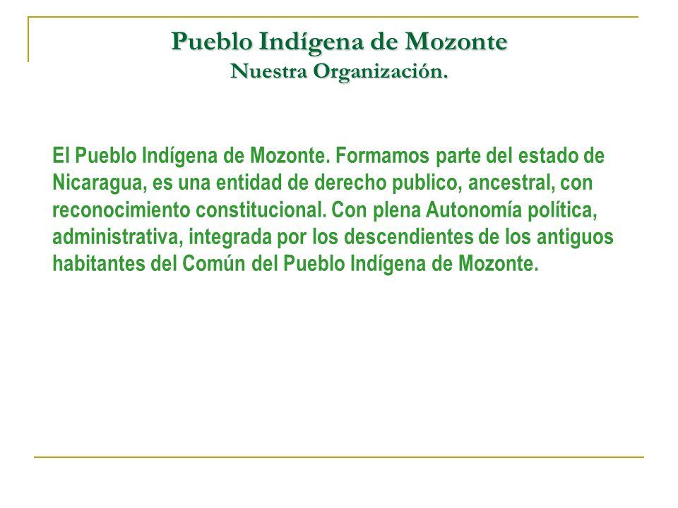 Pueblo Indígena de Mozonte Nuestra Organización.