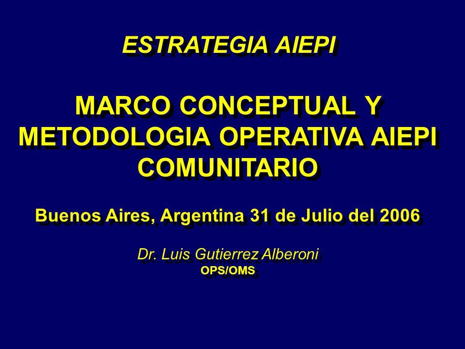 MARCO CONCEPTUAL Y METODOLOGIA OPERATIVA AIEPI COMUNITARIO