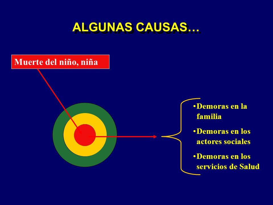 ALGUNAS CAUSAS… Muerte del niño, niña Demoras en la familia