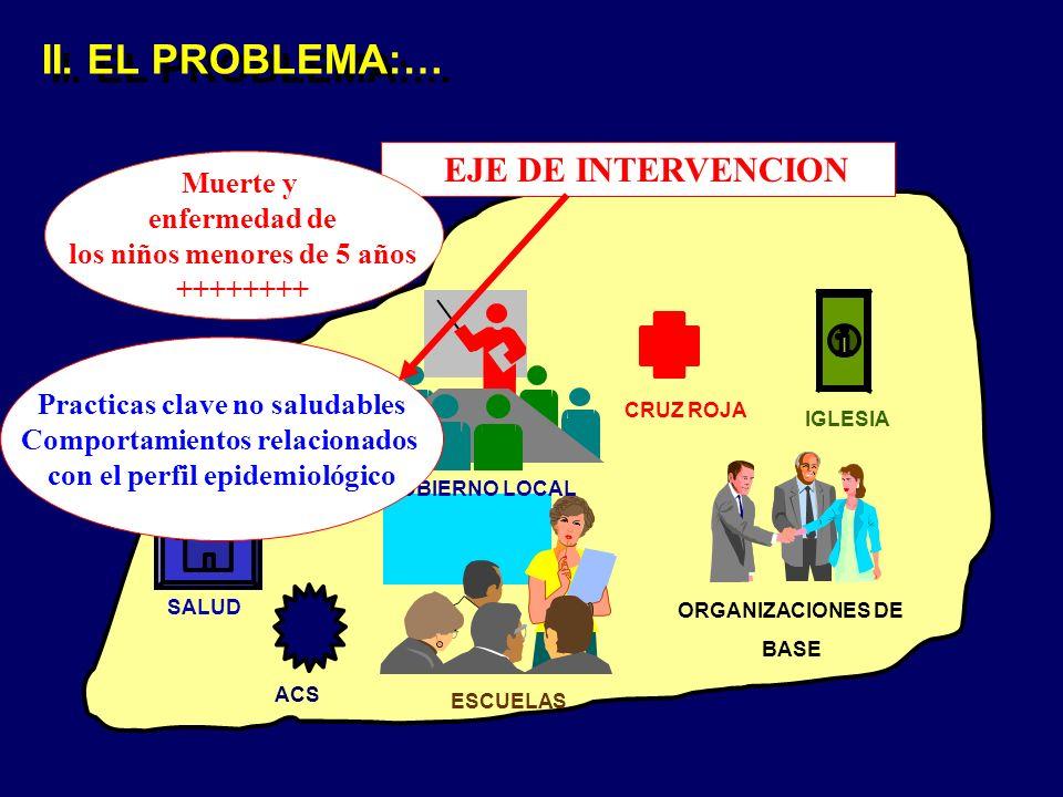 II. EL PROBLEMA:… EJE DE INTERVENCION Muerte y enfermedad de