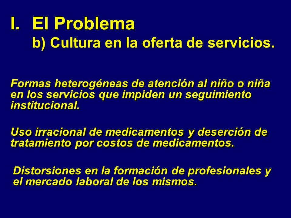 El Problema b) Cultura en la oferta de servicios.