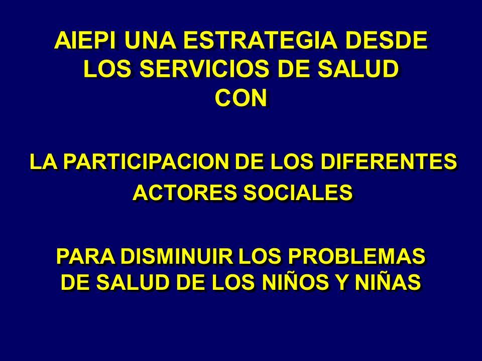AIEPI UNA ESTRATEGIA DESDE LOS SERVICIOS DE SALUD CON