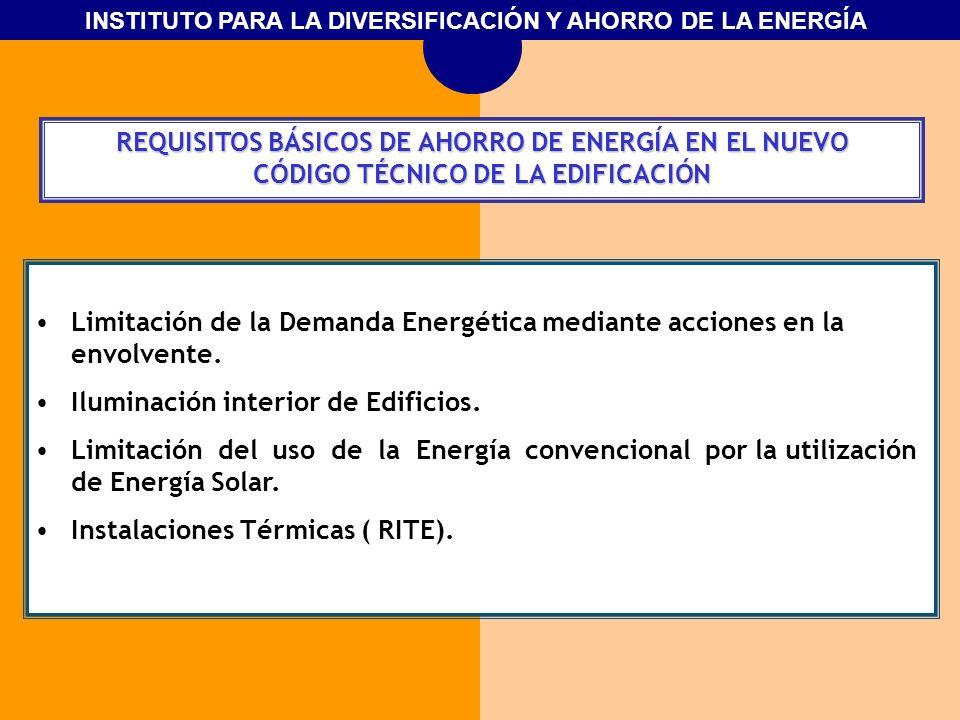 REQUISITOS BÁSICOS DE AHORRO DE ENERGÍA EN EL NUEVO
