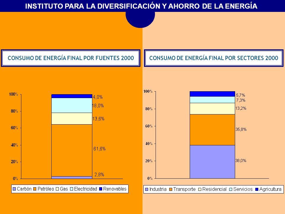 CONSUMO DE ENERGÍA FINAL POR FUENTES 2000