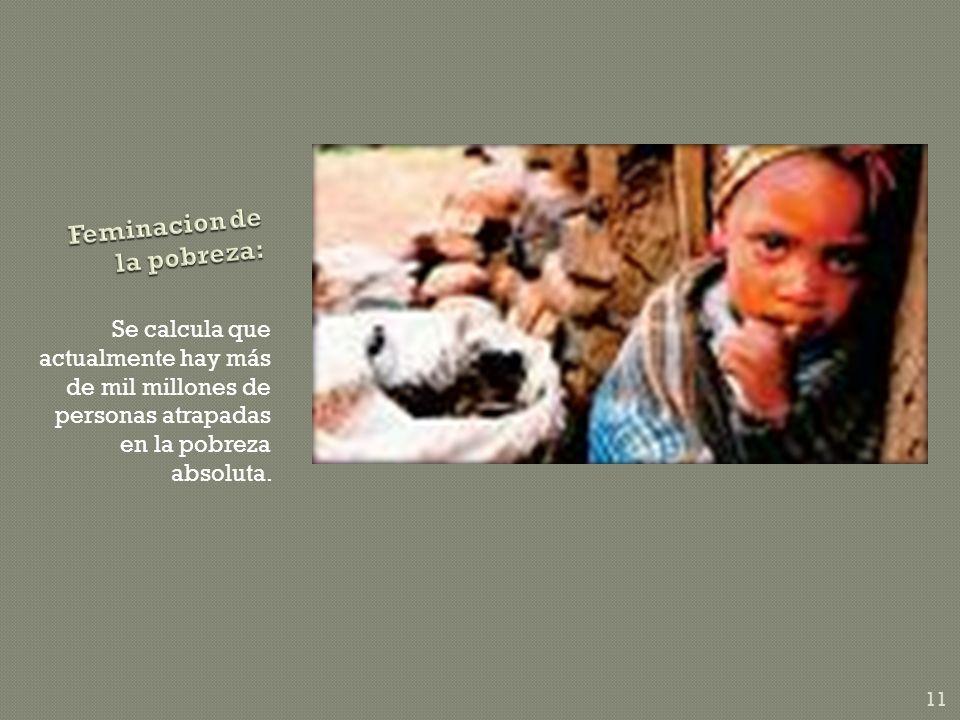 Feminacion de la pobreza: