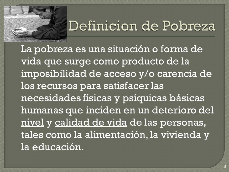 Definicion de Pobreza