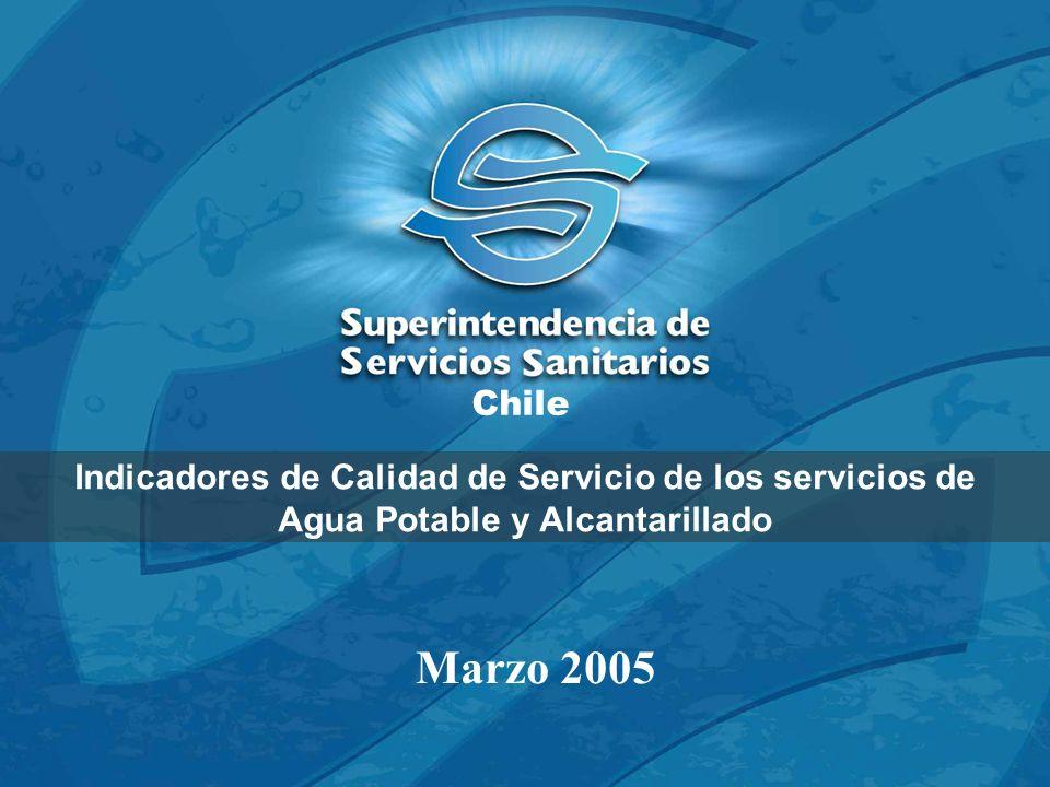 Chile Indicadores de Calidad de Servicio de los servicios de Agua Potable y Alcantarillado.