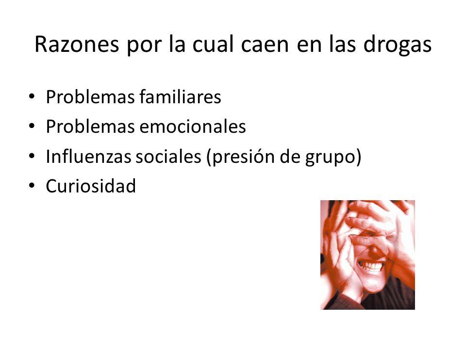 Razones por la cual caen en las drogas