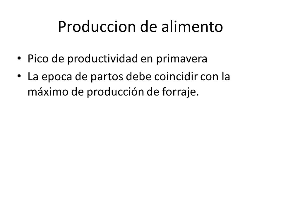 Produccion de alimento