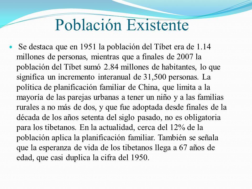 Población Existente