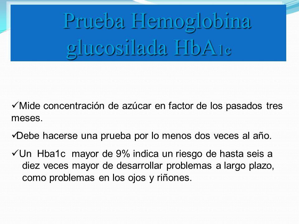 Prueba Hemoglobina glucosilada HbA1c