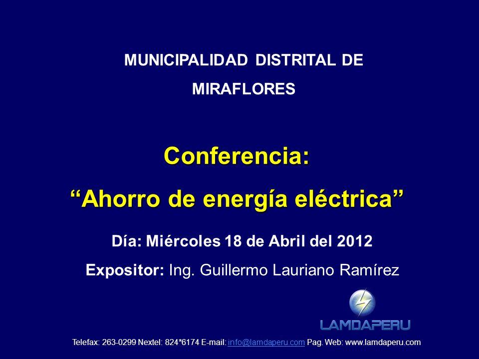 Conferencia: Ahorro de energía eléctrica