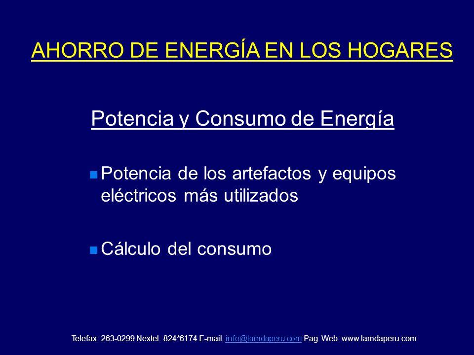 AHORRO DE ENERGÍA EN LOS HOGARES