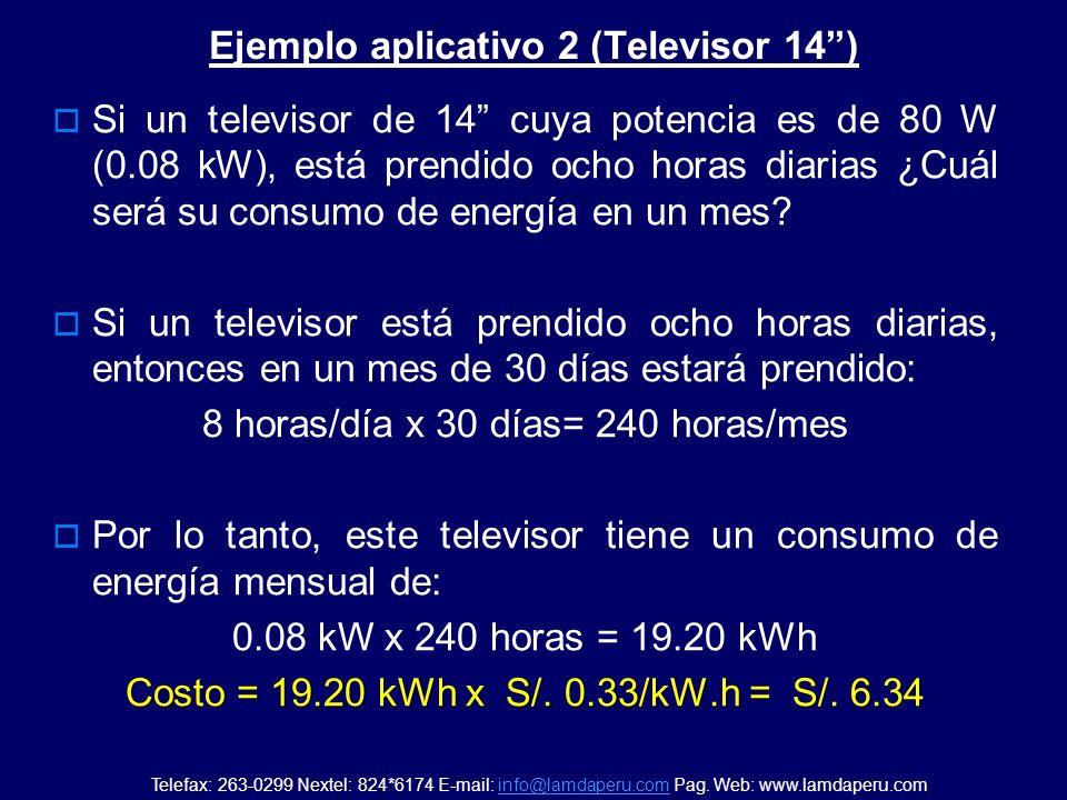 Ejemplo aplicativo 2 (Televisor 14 )