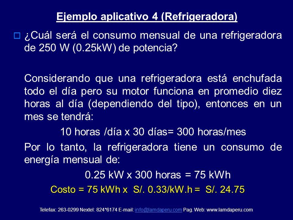 Ejemplo aplicativo 4 (Refrigeradora)