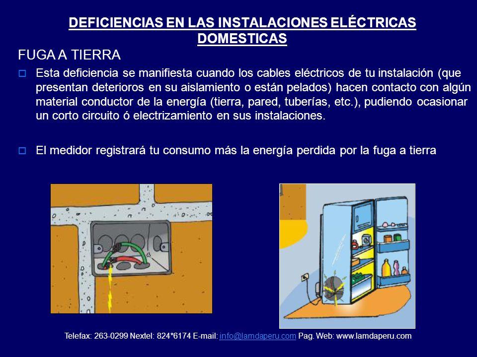 DEFICIENCIAS EN LAS INSTALACIONES ELÉCTRICAS DOMESTICAS