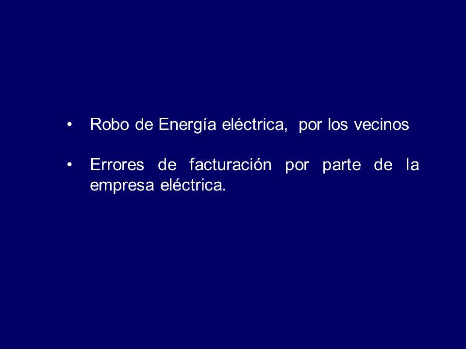 Robo de Energía eléctrica, por los vecinos