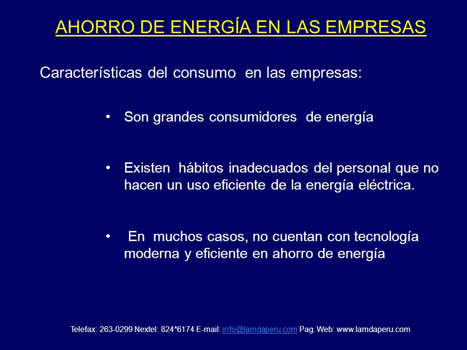 AHORRO DE ENERGÍA EN LAS EMPRESAS