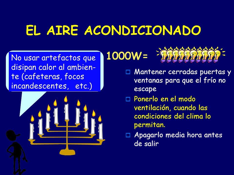 EL AIRE ACONDICIONADO 1000W=