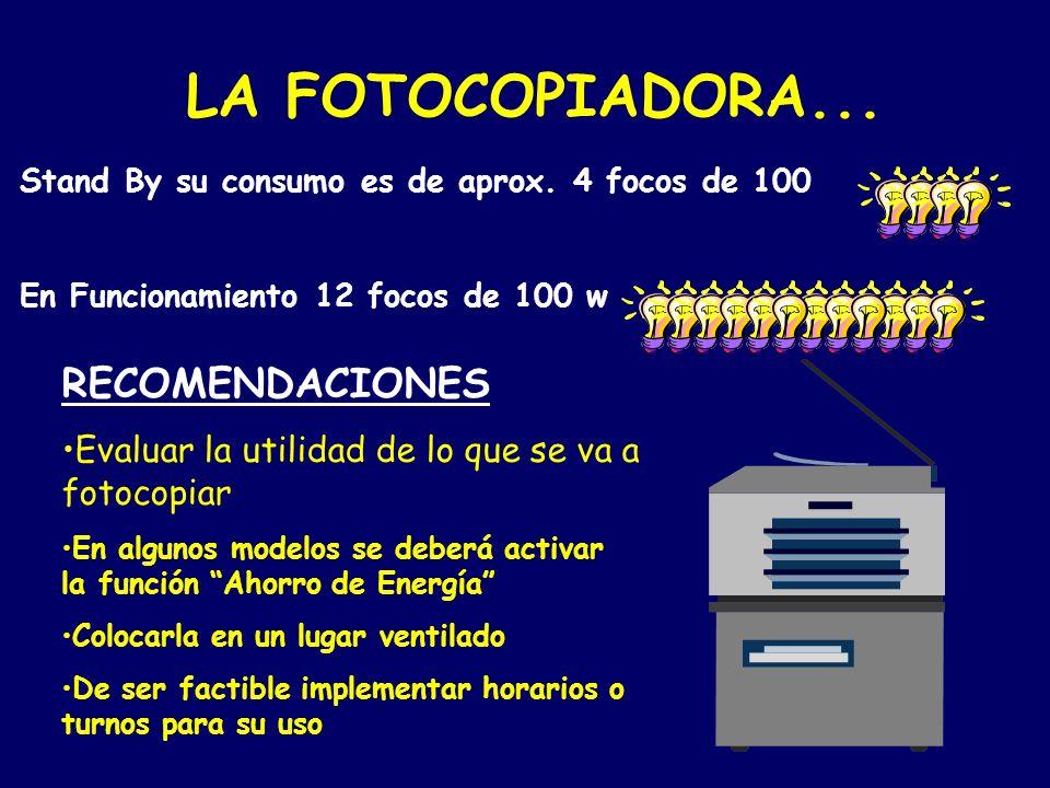 LA FOTOCOPIADORA... RECOMENDACIONES
