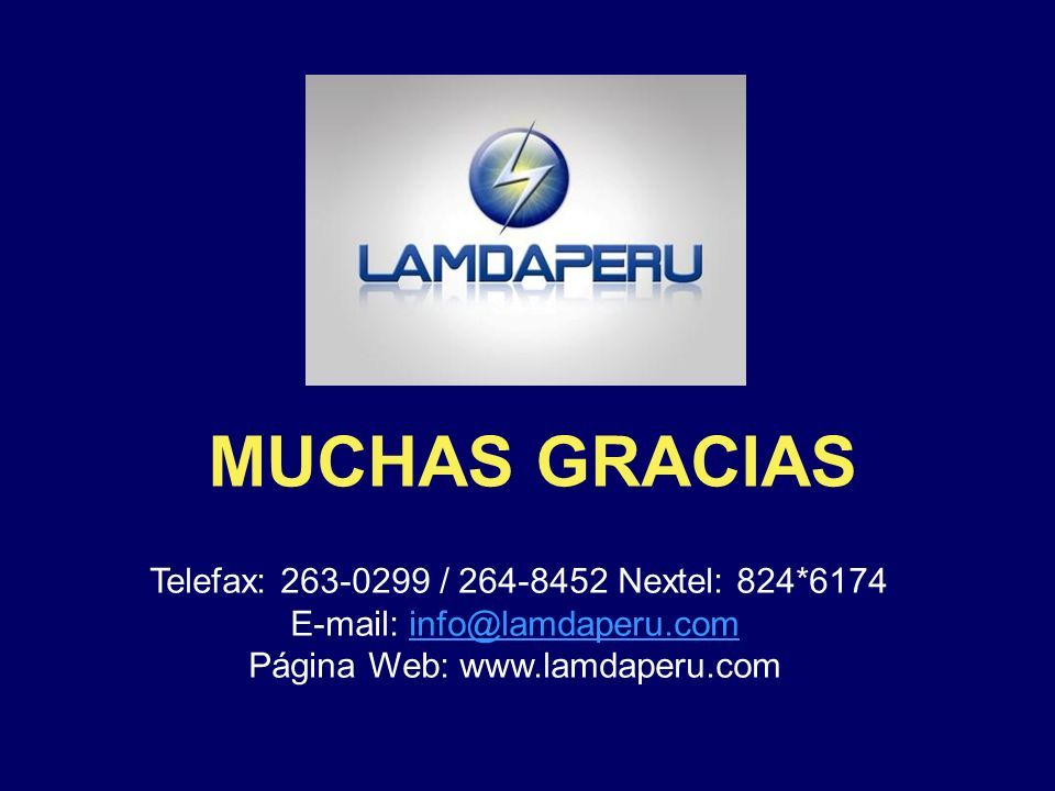 E-mail: info@lamdaperu.com