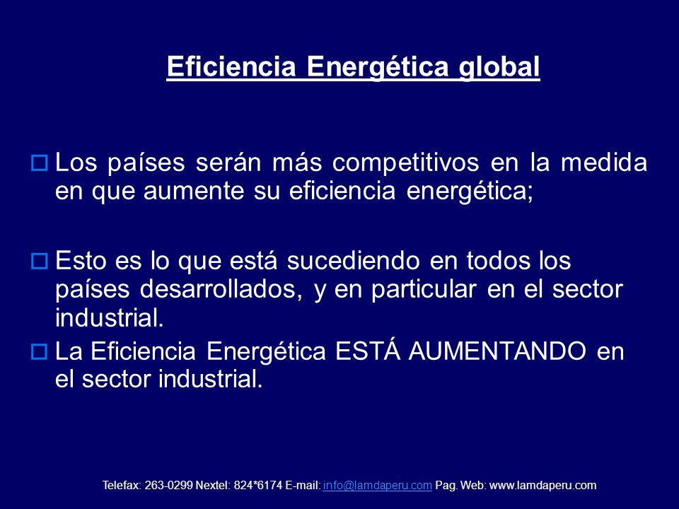 Eficiencia Energética global