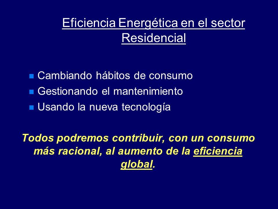 Eficiencia Energética en el sector Residencial