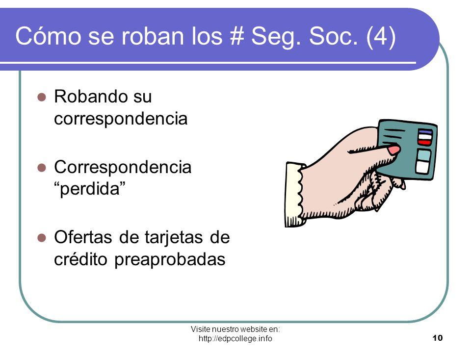 Cómo se roban los # Seg. Soc. (4)