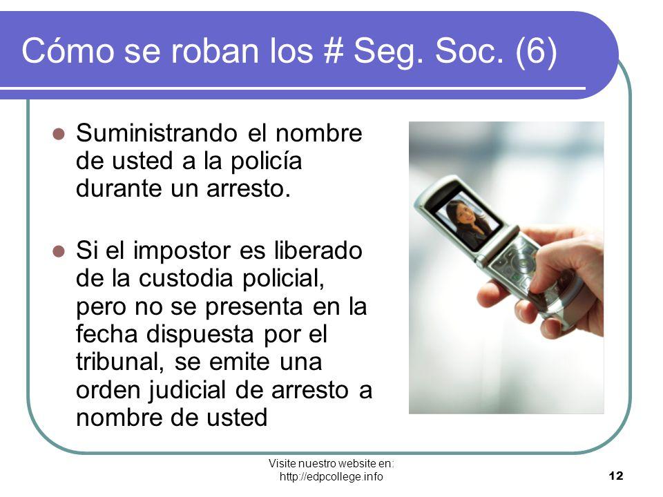 Cómo se roban los # Seg. Soc. (6)