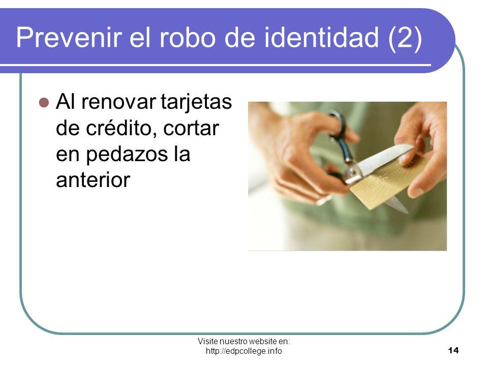 Prevenir el robo de identidad (2)