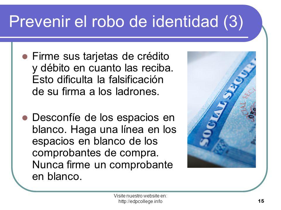 Prevenir el robo de identidad (3)