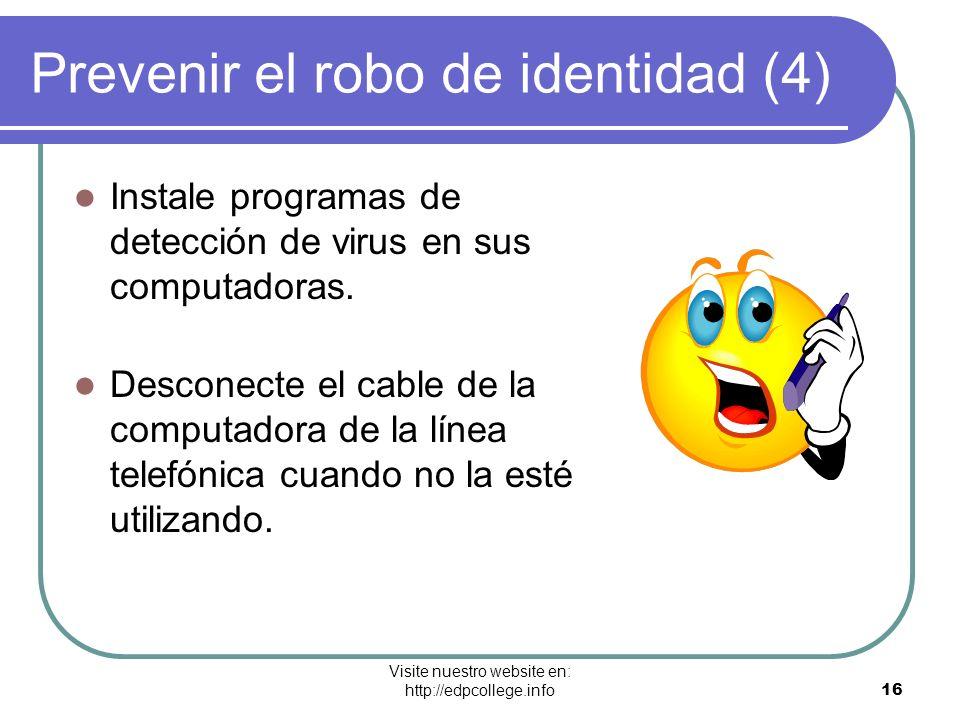 Prevenir el robo de identidad (4)