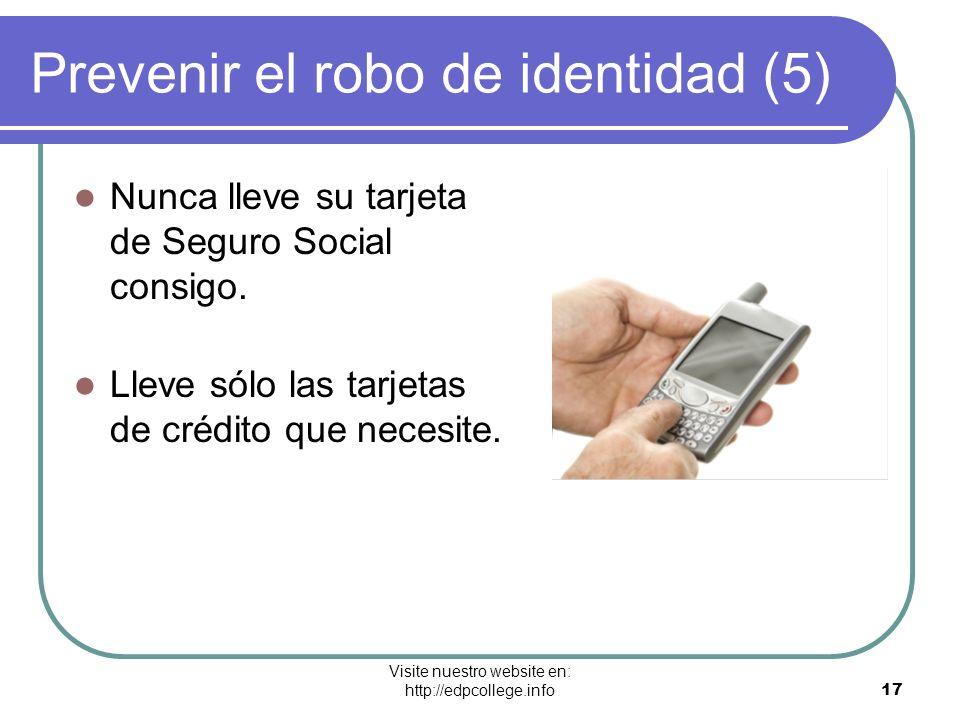 Prevenir el robo de identidad (5)
