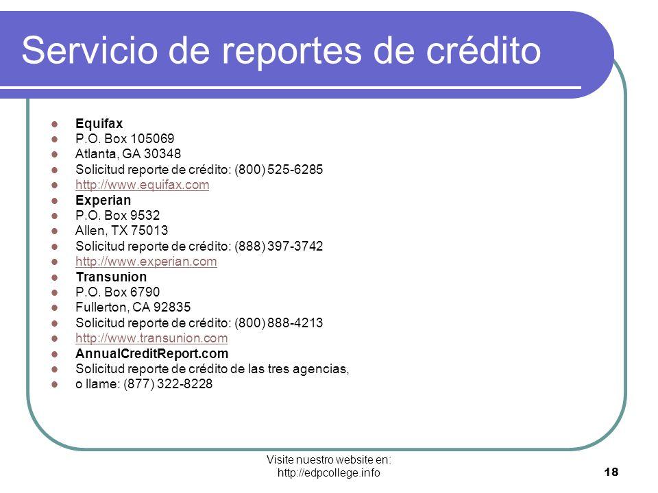Servicio de reportes de crédito