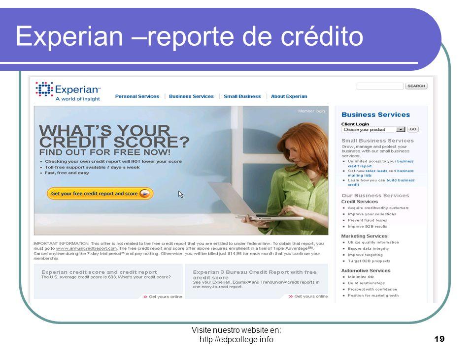 Experian –reporte de crédito