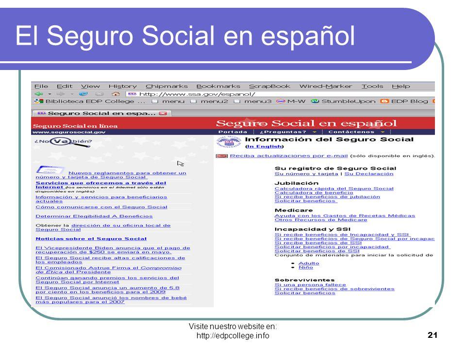 El Seguro Social en español
