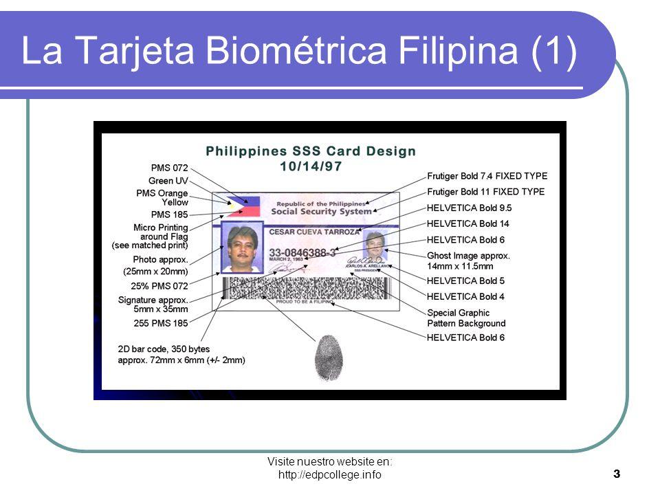 La Tarjeta Biométrica Filipina (1)