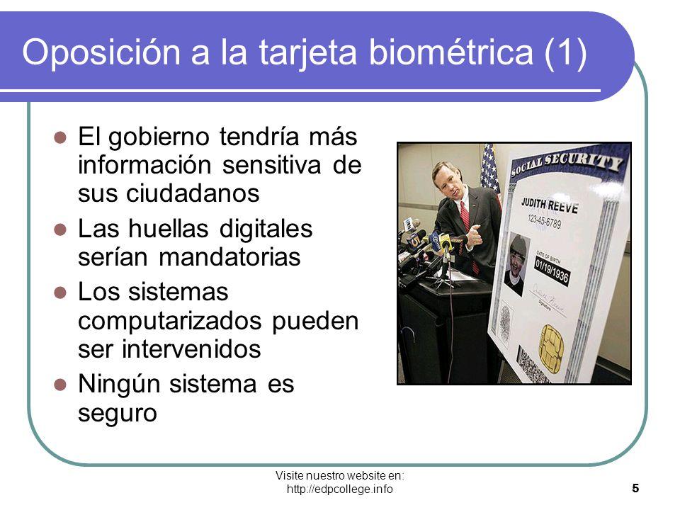 Oposición a la tarjeta biométrica (1)