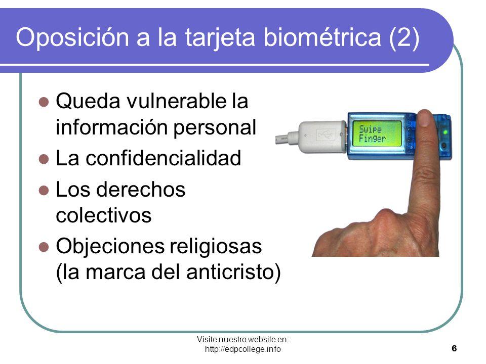 Oposición a la tarjeta biométrica (2)
