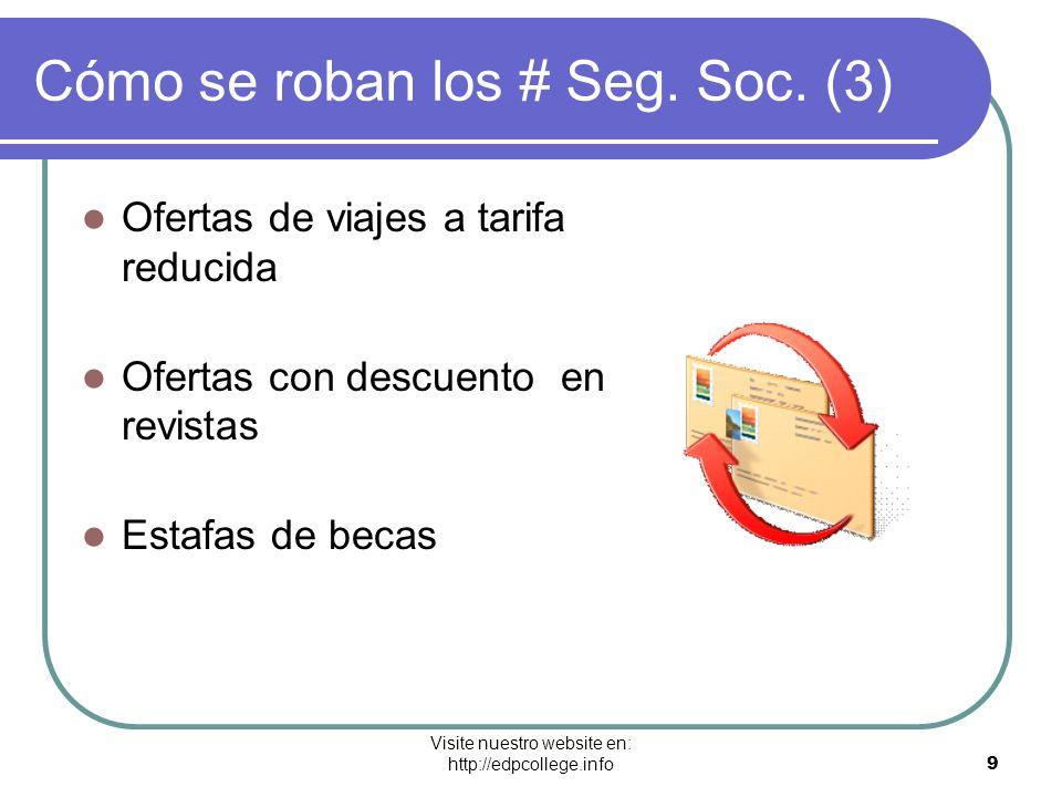 Cómo se roban los # Seg. Soc. (3)