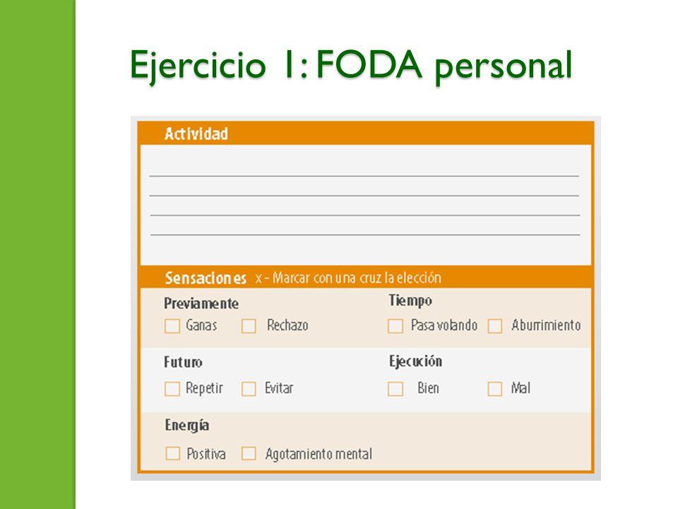 Ejercicio 1: FODA personal