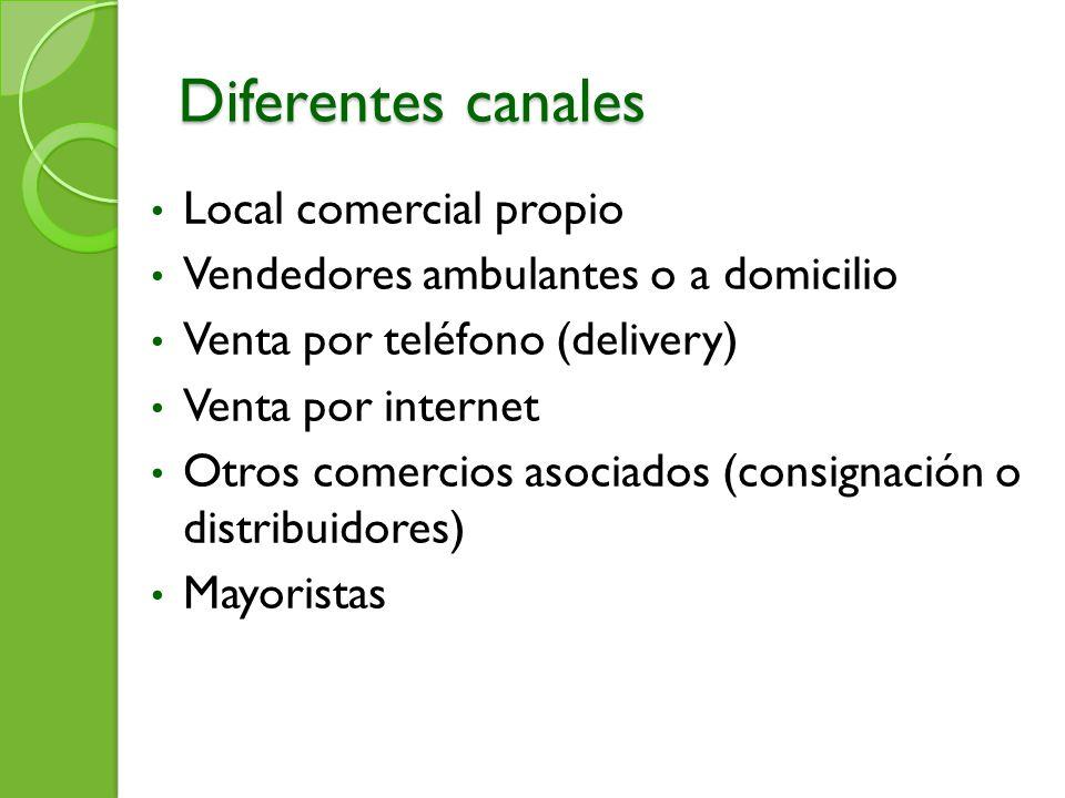 Diferentes canales Local comercial propio