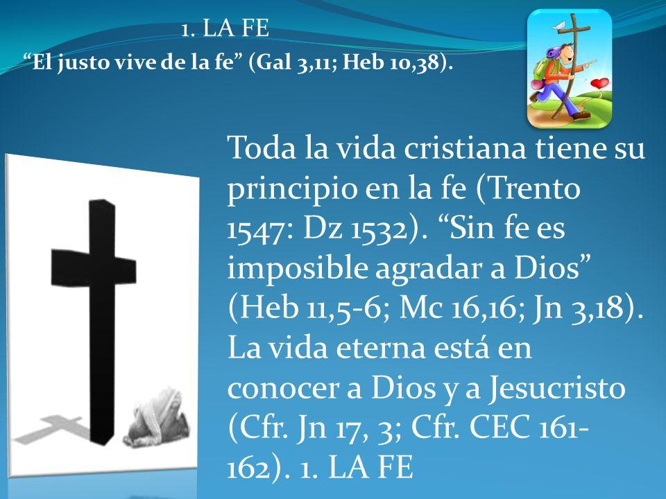El justo vive de la fe (Gal 3,11; Heb 10,38).