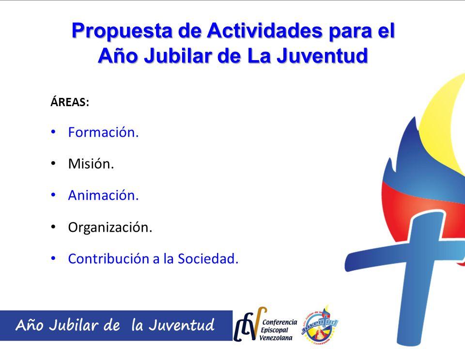 Propuesta de Actividades para el Año Jubilar de La Juventud