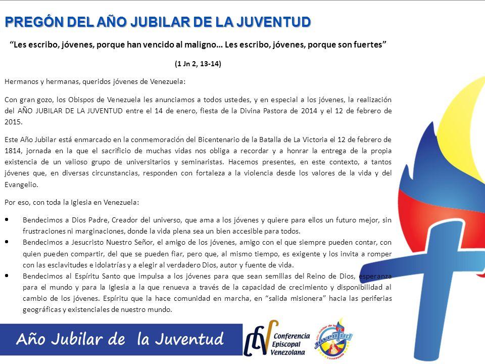 PREGÓN DEL AÑO JUBILAR DE LA JUVENTUD