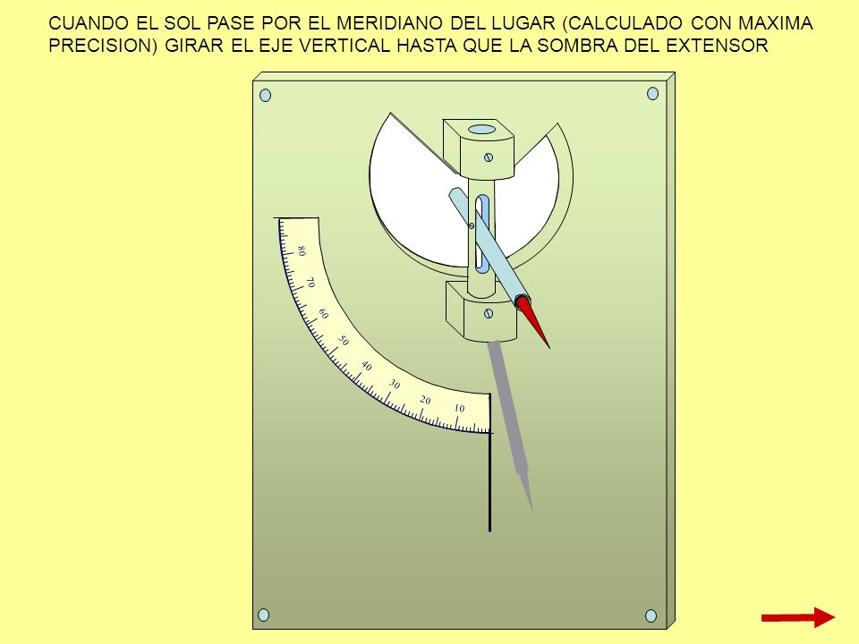 CUANDO EL SOL PASE POR EL MERIDIANO DEL LUGAR (CALCULADO CON MAXIMA