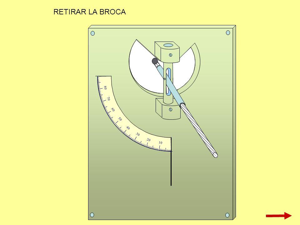 RETIRAR LA BROCA 10 20 30 40 50 60 70 80