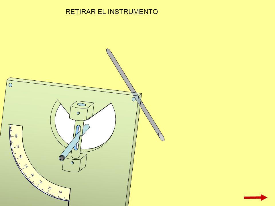 RETIRAR EL INSTRUMENTO